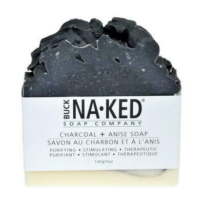 BUCKNAKED CHARCOAL ANISE SOAP
