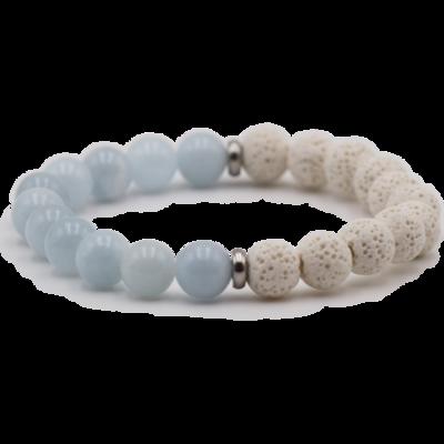 Fern & Petal Aquamarine Bracelet