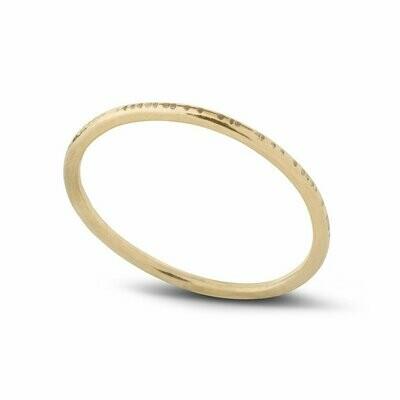 Kara Yoo - Dent Stacking Ring Yellow Gold - Sz 7