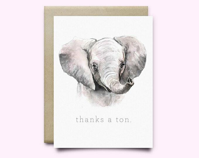 Wild Canary Elephant Card