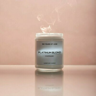100 Years Platinum Blond Candle