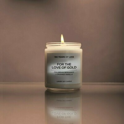 100 Years For The Love Of Gold Candle