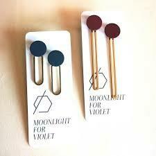 MFV Paperclip Earring Maroon
