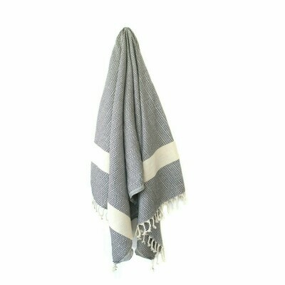 Stray & Wander Maya Towel Black