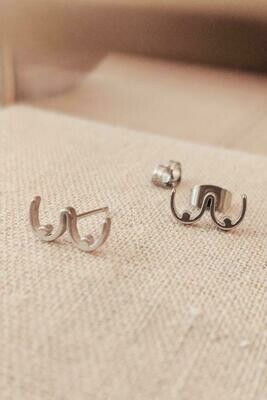 Mimi And August Boob Earrings Silver