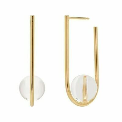 Kara Yoo Balance Earrings Gold