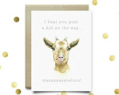 Wild Canary Goat Card
