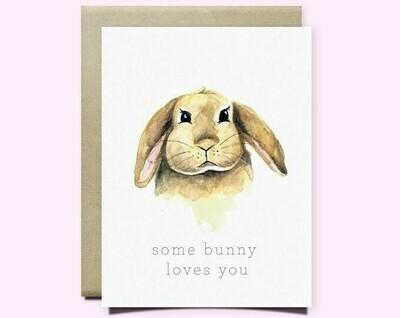 Wild Canary Bunny Card