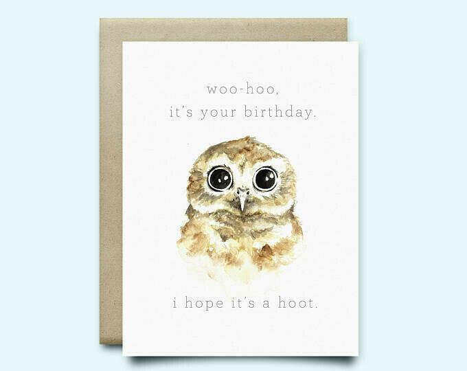 Wild Canary Owl Card