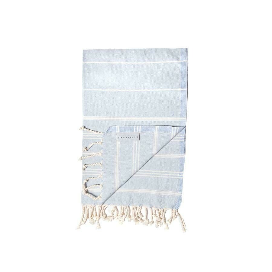 Stray & Wander Cove Small Hand Towel Blue