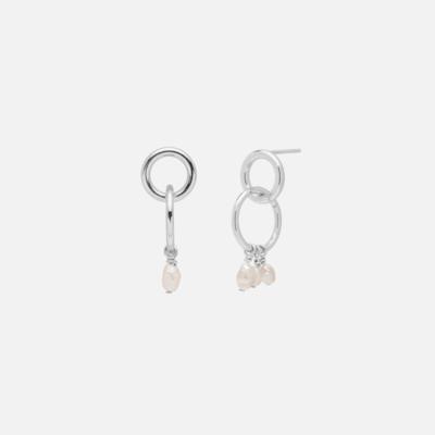 Kara Yoo Moira Mini Earrings Silver