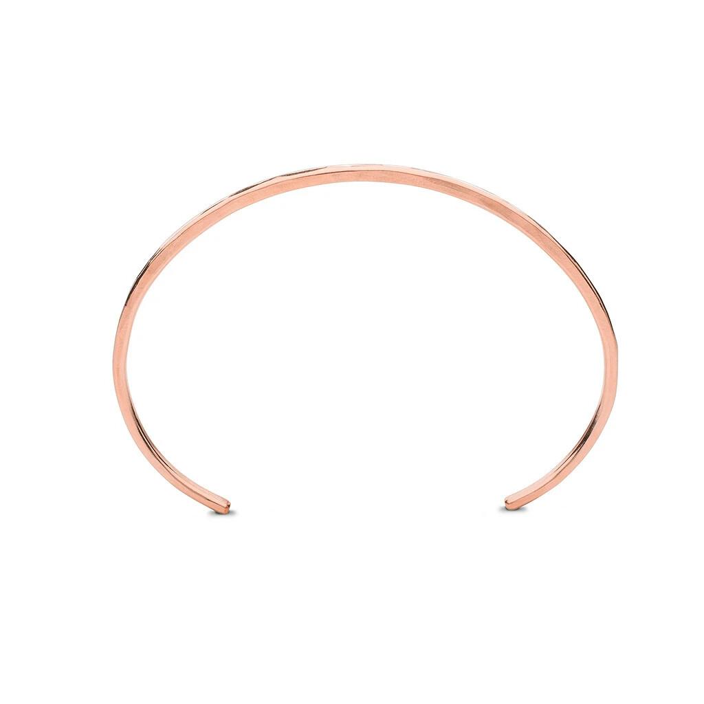 Kara Yoo Thick Cuff Bracelet Rose Gold