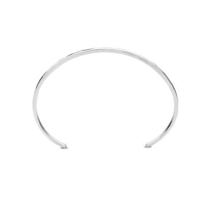 Kara Yoo Thick Cuff Bracelet Silver