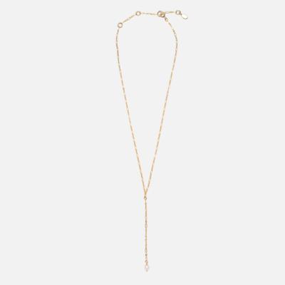 Kara Yoo Kaela Pearl Lariat Necklace Gold