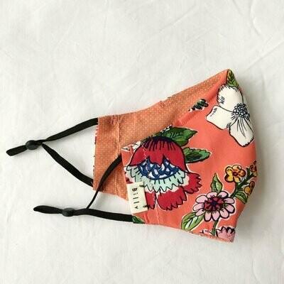 Billy Bamboo Mask - Peach Flourish