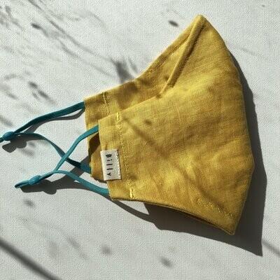 Billy Bamboo Mask Yellow Linen