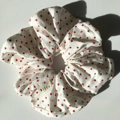 Billy Bamboo Red Polka Dots Scrunchie