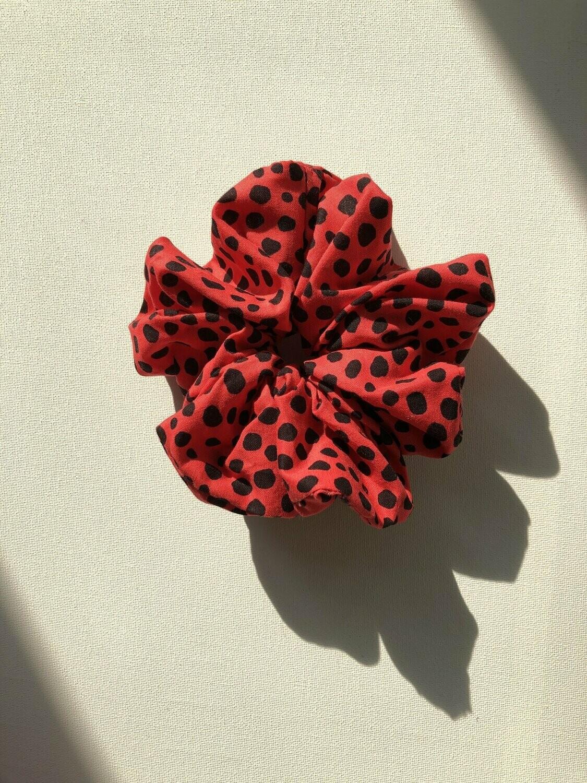 Billy Bamboo Red Leopard Scrunchie
