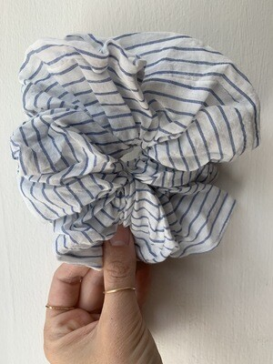 Billy Bamboo Blue Stripe Scrunchie
