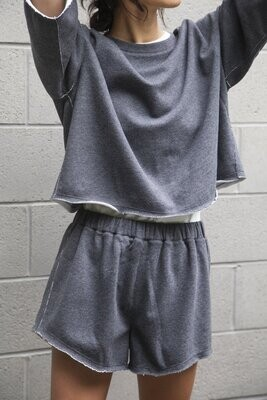 Paper Label Rosario Shorts - Charcoal SM
