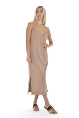 Paper Label Jewel Dress - Taupe XS
