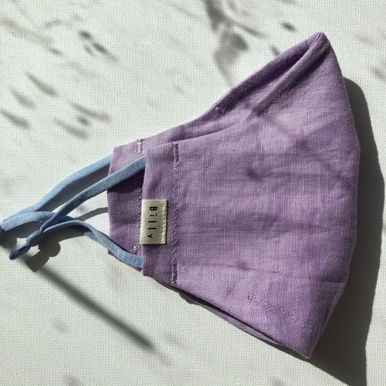 Billy Bamboo Mask Purple Linen