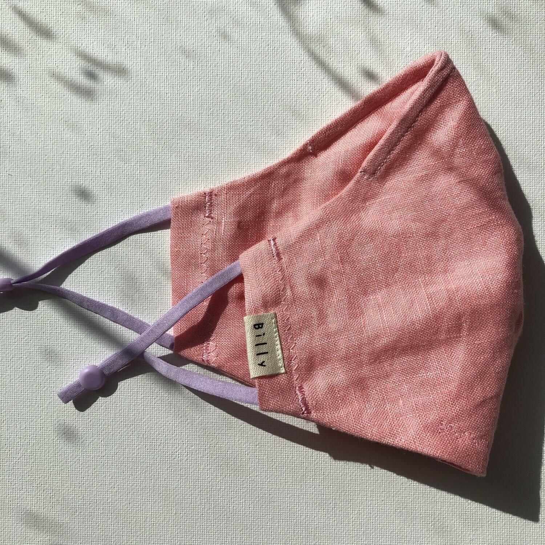 Billy Bamboo Mask Pink Linen