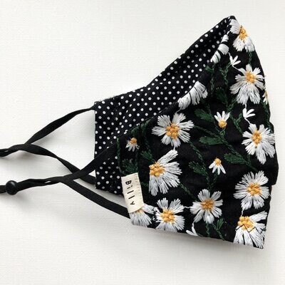 Billy Bamboo Mask - Embroidered Daisy
