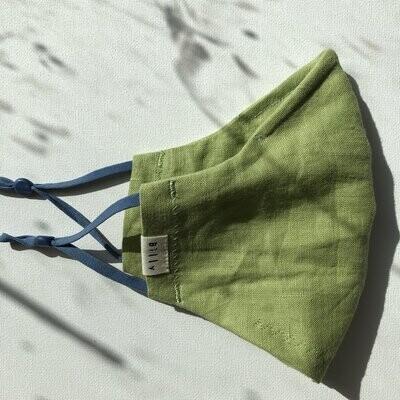 Billy Bamboo Mask Green Linen