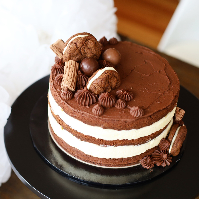 Chocolate & Vanilla Cake (GF available)