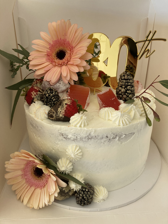 Vegan and Gluten Free Berries & Blooms Cake