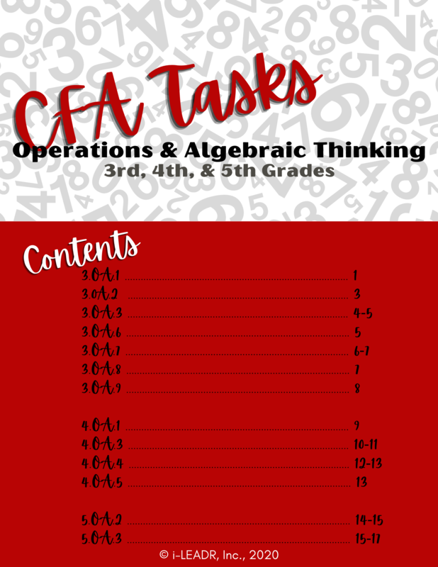 Operations and Algebraic Thinking CFAs/Tasks (Grades 3-5)