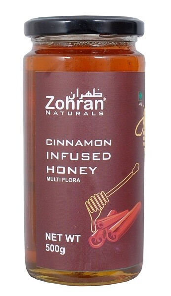 Zohran Natural Cinnamon Infused Honey 500g