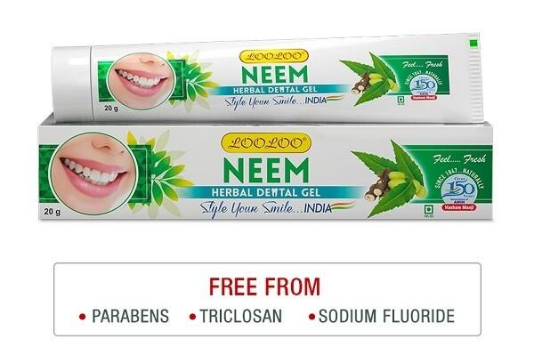 LooLoo Herbal Dental Gel Neem 100g