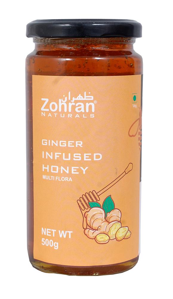 Zohran Natural Ginger Infused Honey 500g
