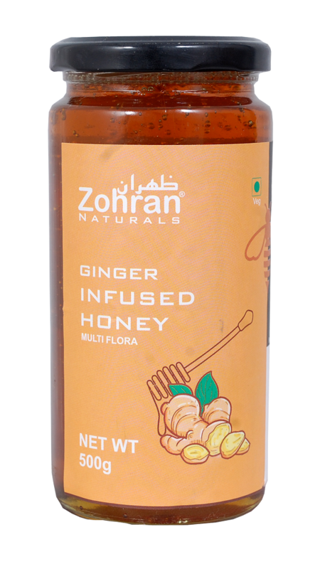 Zohran Natural Ginger Infused Honey 500g