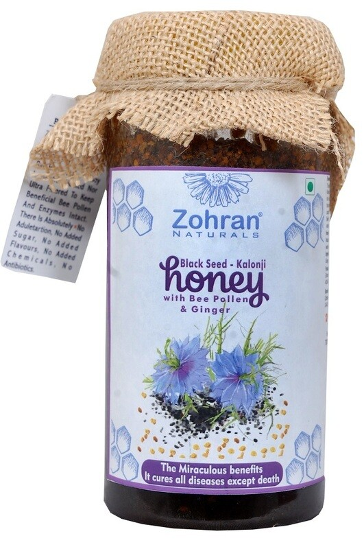 Zohran Natural Black Seed Honey with Bee Pollen & Ginger 500g