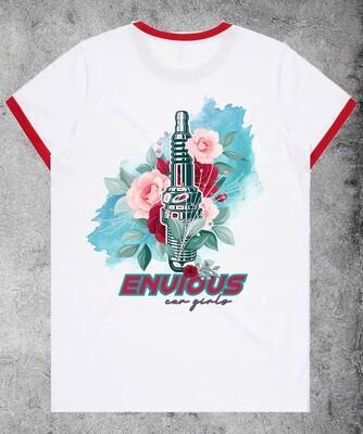 Spark Plug T-shirt - White/Red