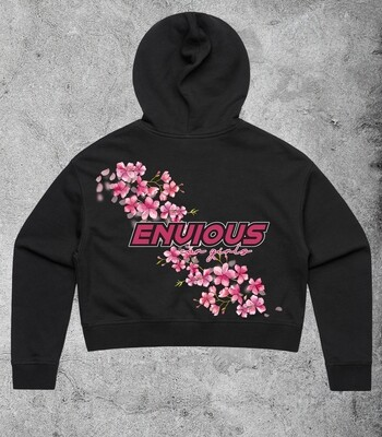 Envious Blossom Crop Hoodie