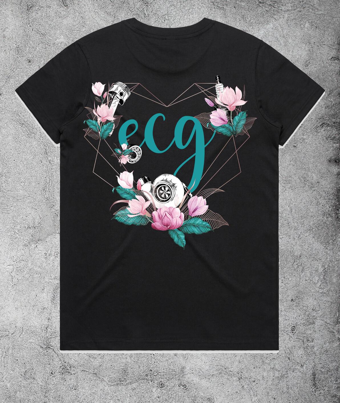 ECG Heart Logo T-shirt - Black