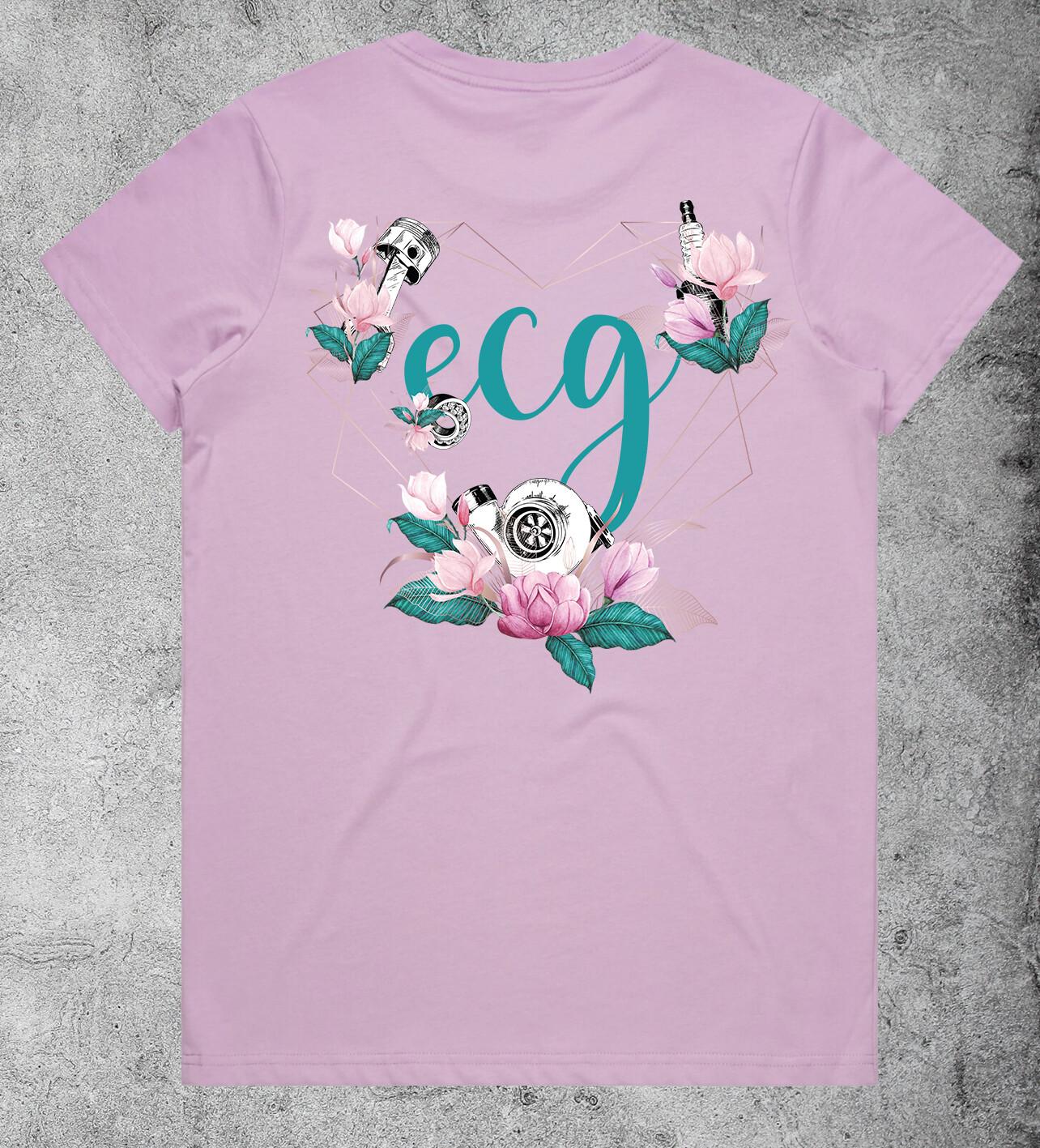 ECG Heart Logo T-shirt - Lavender