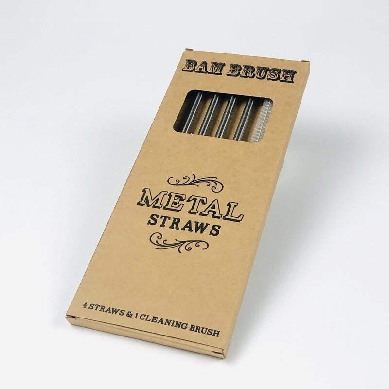 Bam Brush Stainless Steel Reusable straw Kit