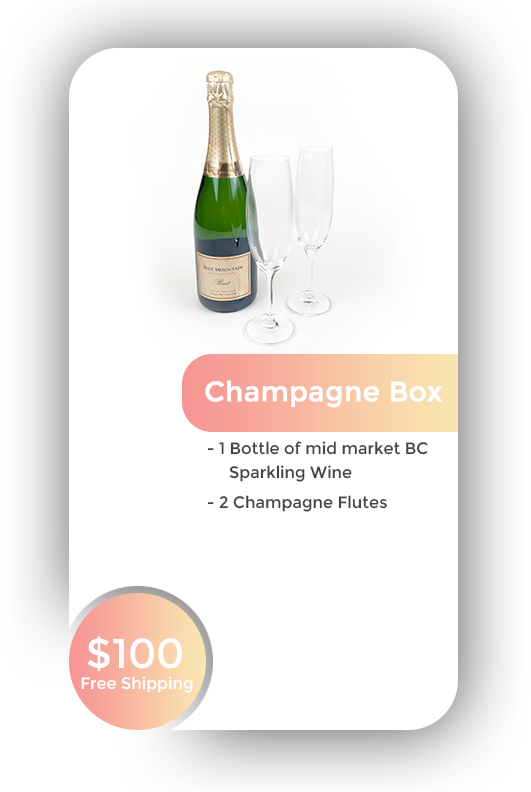 Champagne Box + Free Shipping in BC