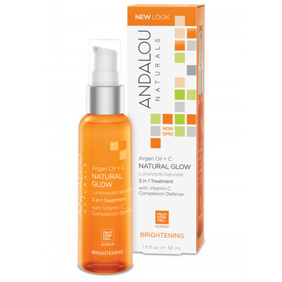 Andalou Naturals | Facial Oil | Argan Oil + C Natural Glow 3in1 Treatment