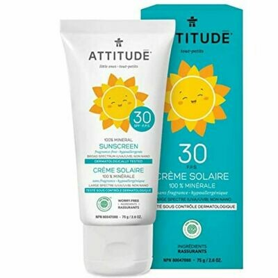Attitude | Sunscreen | Lotion | Little Ones | Unscented | SPF 30
