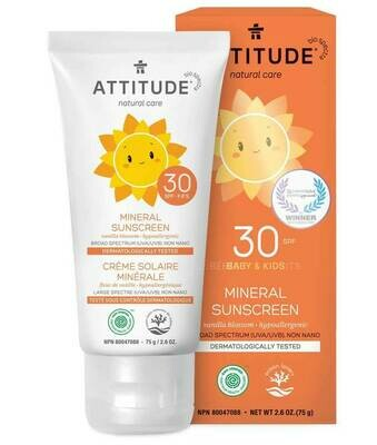 Attitude | Sunscreen | Lotion | Little Ones | Vanilla Blossom | SPF 30