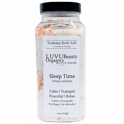 LUVU Beauty | Bath Salt | Sleep Time