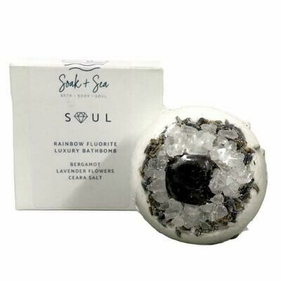 Soak & Sea | Luxury Bath Bomb | Rainbow Fluorite