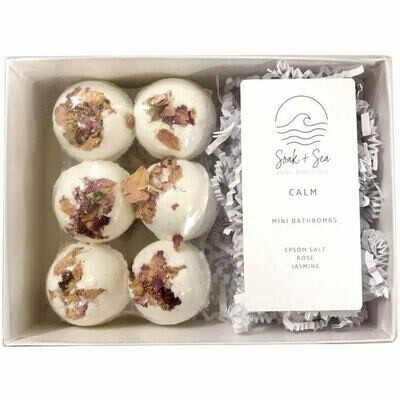 Soak & Sea | Luxury Mini Bath Bombs | Calm
