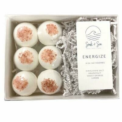 Soak & Sea | Luxury Mini Bath Bombs | Energize
